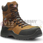V12 Rocky Waterproof Leather Hiker Work Boots Composite Toe Cap Midsole Side Zip
