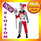 C133 Mens Evil Twisted Joker Fancy Halloween Adult Costume