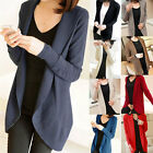 New Womens Long Sleeve Open Front Knitted Crochet Cardigan Knit Top Jumper