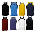 2xist Men's Contrast Square-Cut Tank Top Sleeveless Fashion Shirt - Many Colors