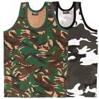 MENS ARMY COMBAT TANK TOP VEST SINGLET URBAN/CAMO S-XXL SLEEVELESS T-SHIRT