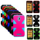 For Alcatel OneTouch Fierce Case Tri-Layered Cover 7024w Accessories