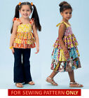SEWING PATTERN! MAKES GIRLS DRESS~TOP~PANTS! SIZE 2~8! CHILD SUMMER CLOTHES~EASY