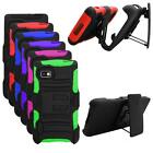 Phone Case For T Mobile LG Optimus F3 Silicone Cover wStand + Holster Belt Clip
