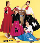 SEWING PATTERN McCall's M6234 Misses Retro SOCK HOP POODLE SKIRTS COSTUMES
