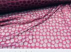 Discount Fabric Stretch Metallic sheen Lace Burgundy Circles 812LC