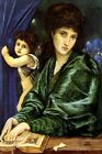 MARIA ZAMBACO PORTRAIT CUPID BOOK CHANT D'AMOUR PAINTING BY BURNE JONES REPRO