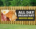 ALL DAY BREAKFAST PVC Banner Outdoor/Indoor Catering Sign Restaurant Eyelets