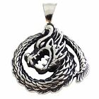 New Stainless Steel Thai Style Dragon Pendant and Chain Necklace Dragons India