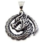 Stainless Steel Dragon Pendant Thai Style Dragons Necklace Jewelry New