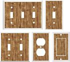 IMAGE OF RUSTIC BARN BOARD  BROWN  LIGHT SWITCH COVER PLATE OT OUTLET
