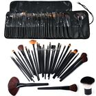 32 Superior Professional Soft Cosmetic Makeup Blusher Brush Set + Pouch Lot C1MY