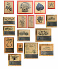 PSX Rubber Stamps Floral, Borders, Sayings - NEW C, D, E, F, G, and K