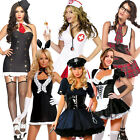 Sexy Halloween Hen Party Cop Gangster Nurse Maid School Girl Fancy Dress Costume