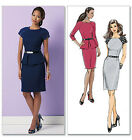 SEWING PATTERN Butterick B5520 Misses Fitted Knee Length PEPLUM SKIRT DRESSES