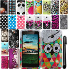 For Nokia Lumia 635 Rubberized Design PATTERN Hard Case Cover Accessory + Pen