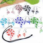 Fashion Lampwork Glass Spiral Snail Hook Earring Pendant Necklace Jewelry Sets