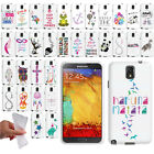For Samsung Galaxy Note 3 N9005 N9000 Art Design TPU Silicone Case Phone Cover