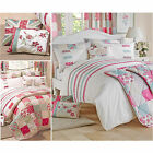 VINTAGE PATCHWORK BEDDING – Polka Dot Floral Duvet Cover Cotton Rich Bed Set