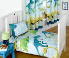 Dinosaur Facts Blue Stripes Bedding Duve...