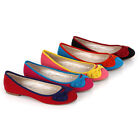 Bequeme Damen Ballerinas Schuhe 95824 Colorblocking Slipper 36-41 Modatipp