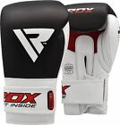 Auth RDX Leather Gel Boxing Gloves Fight Punch Bag MMA Muay thai Grappling Pad C