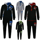 KIDS BOYS TRACKSUIT DLX PROJECT NEW GENERATION HOODIE BOTTOM JOGGERS 7-13 YEARS