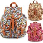 Vintage Canvas Satchel Backpack Cute Women's Rucksack Shoulder School Bag Bags