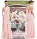 BNWT EVE Pale Pink Chiffon One Shoulder Long Prom Evening Bridesmaid Dress 8 -18
