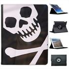 Pirate Flag  Wearing Bandana Folio Wallet Leather Case For iPad 2, 3 & 4