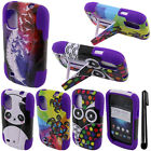 For ZTE Prelude Z993 Avail 2 Y STAND HYBRID Rubber HARD Case  Cover Phone + Pen