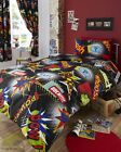 Comic Themed Single or Double Duvet Quilt Cover Bed Set or 66 x 72 Curtains Kids
