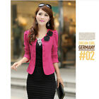 Long Sleeve Small Suit Jackets Office Ladies Double Breasted Coat Girls Outwears