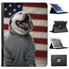 American Bull Dog Folio Wallet Leather Case For iPad Air
