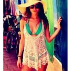 Hotsale Sexy Crochet Lace Hollow Sleeveless Swimwear Bikini Cover Up Beach Dress