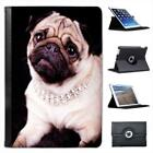 Princess Pug Dog Wearing Diamond Necklace Leather Case For iPad Mini & Retina