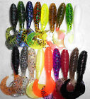 "3"" KALIN'S LUNKER GRUB BASS WALLEYE CRAPPIE FISHING LURE CHOICE OF COLOR"