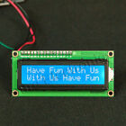 rduino IIC/I2C 1602 16x2 Character LCD Module LCM White On Blue  Blue Backlight