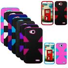 Phone Case For LG Optimus L70 / LG Realm Silm Dual-Layered Dynamic Cover