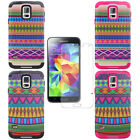 New For Samsung Galaxy S5 SV Vintage Tribal Hybrid Rubberized Case Cover + Film