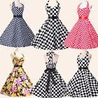 ❤UK Cheap❤Vintage 50s 60s Rockabilly Swing Prom Cocktail Evening Housewife Dress