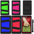 For LG G Pad 8.3 V500 Impact KICKSTAND HYBRID Rubber HARD Case over Phone + Pen
