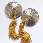 BURLESQUE Sequin Nipple Tassels Covers Pasties - Silver / Gold
