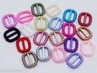 100Acrylic Pearl Ribbon Slider Buckles Baby Shower Communion Wedding Craft Cards