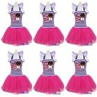 Girls Doc McStuffins Number 1-6 Birthday Purple Hot Pink Party Dress Costume