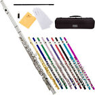 Mendini C Flute ~Silver Nickel, Gold, Blue, Green, Pink, Purple or Red Lacquered