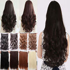 3/4 full head Salon Finest hair extensions one piece 5 clips clip in sexy Lady's