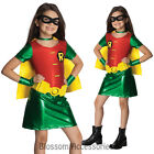CK174 Titans Robin Batman Super Hero Fancy Dress Girl Child Book Week Costume