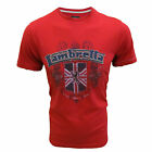 LAMBRETTA T SHIRT APPLIQUE CREST MOD TEE MENS UK XL BLOOD RED