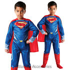 CK194 Superman Flat Chest Superhero Hero Child Boys Book Week Costume Outfit